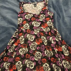 Hot Topic Skulls and Rose Dress